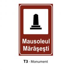 Monument — Indicator rutier