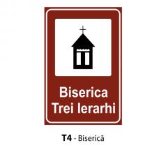 Biserică — Indicator rutier