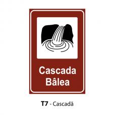 Cascadă — Indicator rutier