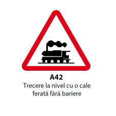 Trecere la nivel cu o cale ferată fără bariere — Indicator rutier