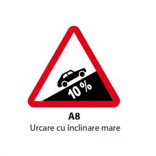 Urcare cu înclinare mare — Indicator rutier