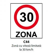 Zonă cu viteză limitată la 30 km/h — Indicator rutier