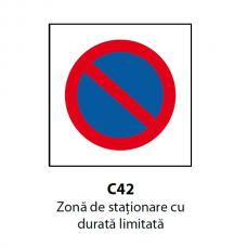 Zonă de staţionare cu durată limitată — Indicator rutier