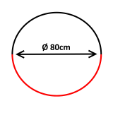 Oglindă de supraveghere 180°, diametru 80cm ***