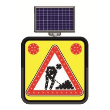 Indicator rutier solar cu leduri pentru semnalizararea lucrărilor