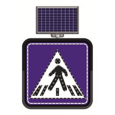Indicator rutier solar cu leduri pentru semnalizararea trecerilor de pietoni
