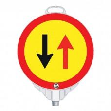 Prioritate pentru circulația din sens invers — Indicator rutier din plastic