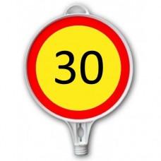 Semne din plastic — Limitare viteză 30km