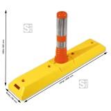 Separator de sensuri cu stâlp flexibil portocaliu (cod 12219)