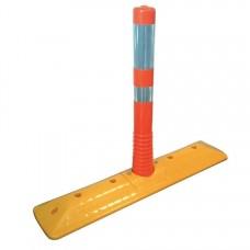 Separator de sens cu stâlp flexibil portocaliu (cod 12268)
