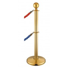 Stâlp opritor gold cu cap sferic și cordon dublu