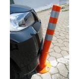 Stâlpi pentru parcare din cauciuc de culoare galbenă (75 cm)
