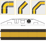 Protecţie pentru cabluri — pod pentru cablu (colţ)