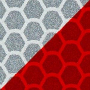 Benzi adezive reflectorizante Alb-Roșu