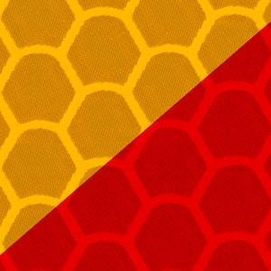Benzi adezive reflectorizante Galben-Roșu